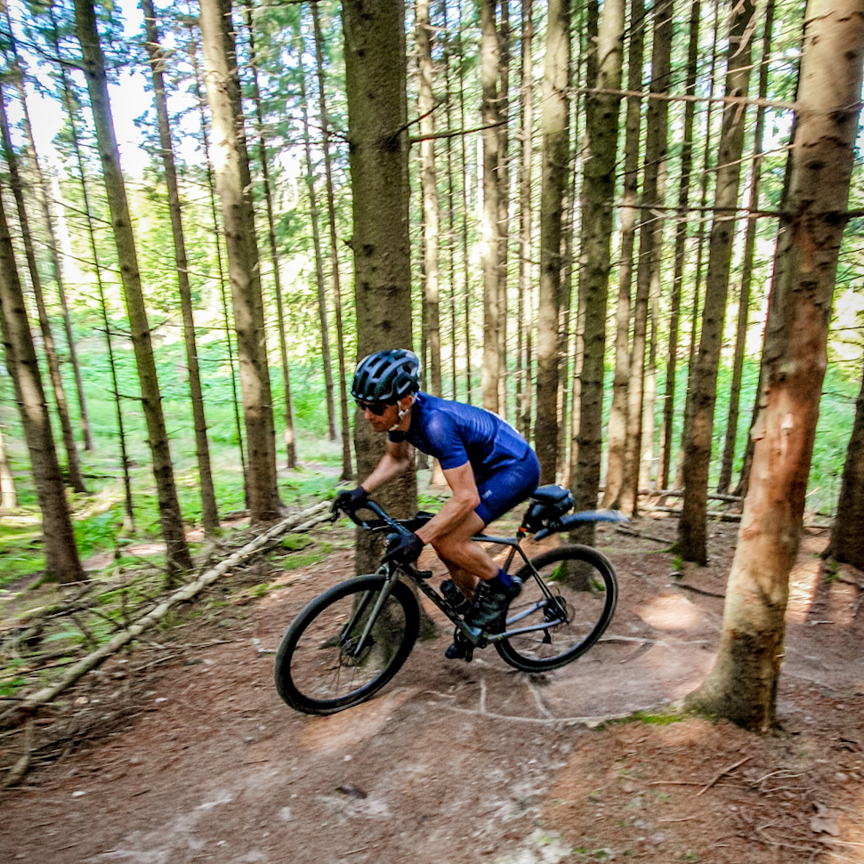 MTB trails south of Hvalsø. WARNING: These trails are very technical and should be by-passed unless you are experienced!